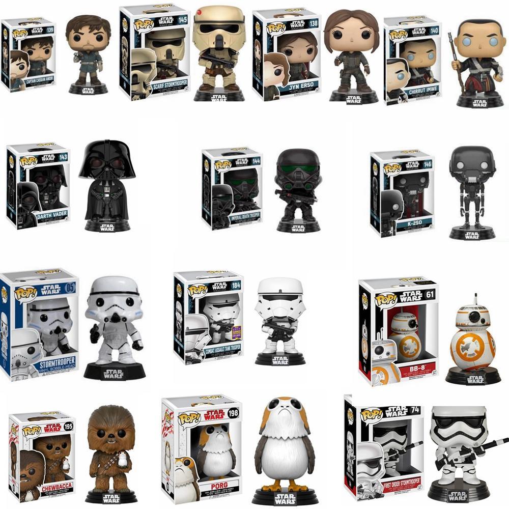 FUNKO POP Star Wars Figure Toys Darth Vader Luke Skywalker Leia Action Figures Model