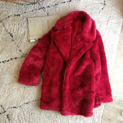 2019 New Style High-end Fashion Women Faux Fur Coat S98
