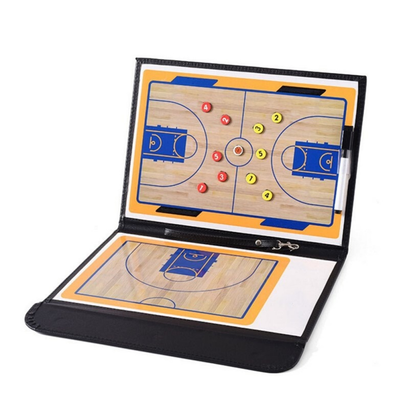 USA Shipping Basketball Tactics Board Basketball Accessory Professional Basketball Coaching Board Double-sided Coaches