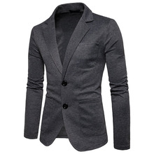 OLOME Fashion Mens Cotton Blazer Autumn New Male Casual Suit Jackets Business 20