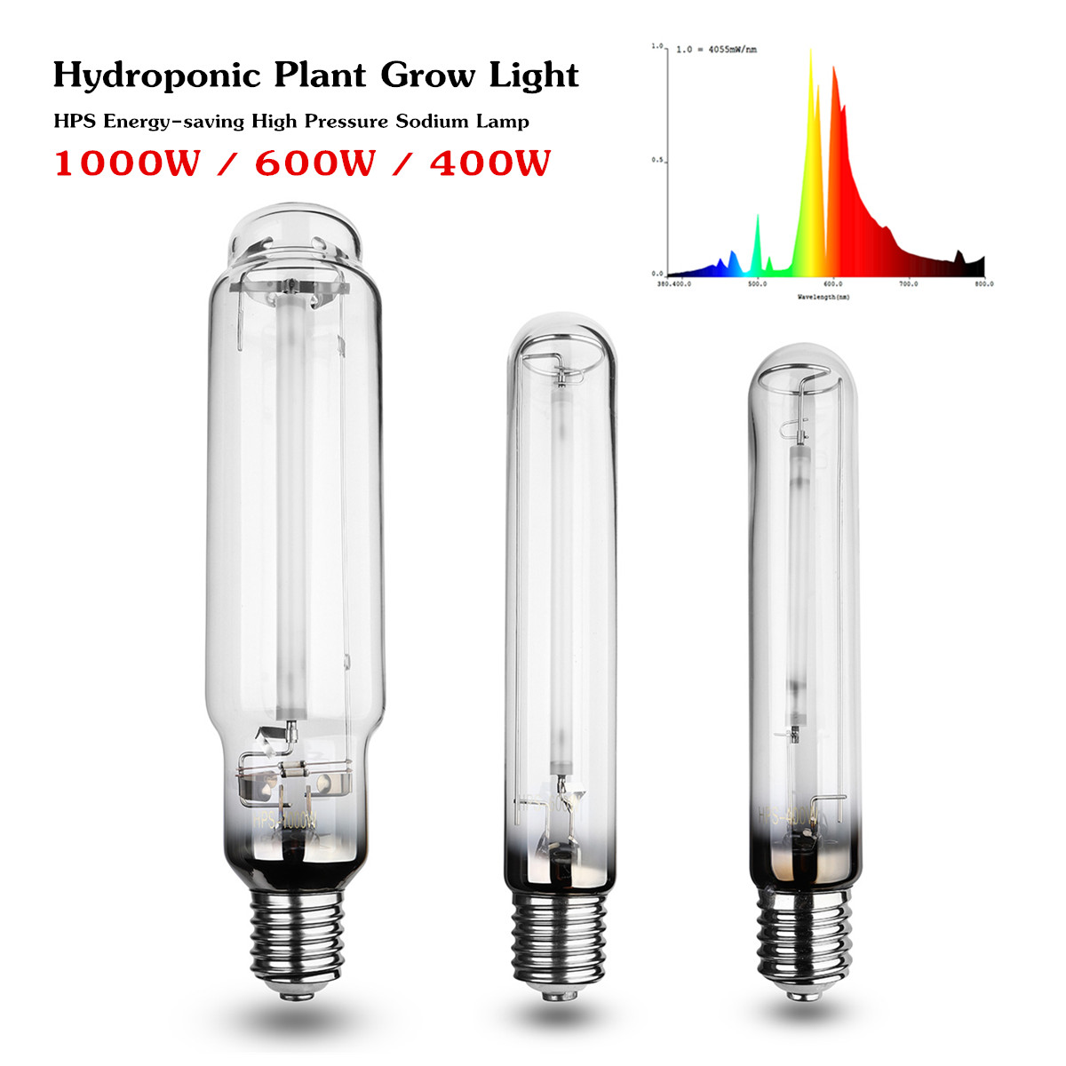 400/600W/1000W HPS Plant Grow Lamp E40 Grow Light Bulb Ballast For Sodium Bulb Indoor Plant Growing Lamps Higth Pressure