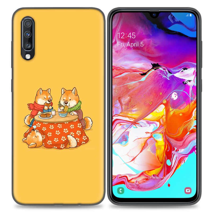 ซิลิโคนสำหรับ Samsung Galaxy A50 A80 A70 A40 A30 A20 A20e A10 A51 A71 A31 หมายเหตุ 8 9 10 Plus 5G Great Ramen WAVE ญี่ปุ่น