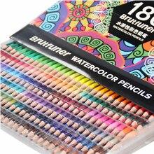 48/72/120/160/180 cor profissional lápis de cor de óleo de madeira macio aquarela lápis para escola desenhar esboço arte suprimentos