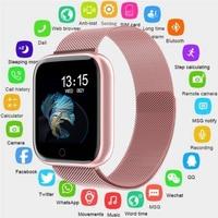 Saatler'ten Dijital Saatler'de 2019 kadın su geçirmez akıllı saat P70 P68 Bluetooth 4.0 Smartwatch Apple IPhone xiaomi LG nabız monitörü spor izci