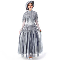 Dress Women Lace Long Dresses Fashion Women Halloween Cosplay Vintage Ghost Bride Gothic Dress vestidos de fiesta de noche20