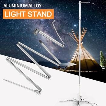 חיצוני אורות Stand קמפינג טיולים עבודת אור Stand מתכוונן LED מבול אור בניית אתר עבודה מנורת תאורת סטנד Rack