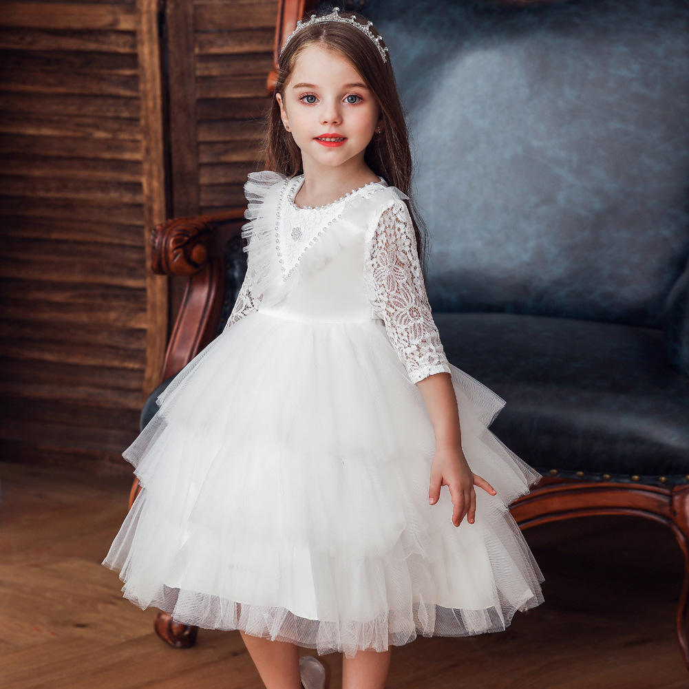 2019 Autumn And Winter New Style Small CHILDREN'S Princess Dress Puffy Mesh Dress A Year Of Age Wash Formal Dress Children Child