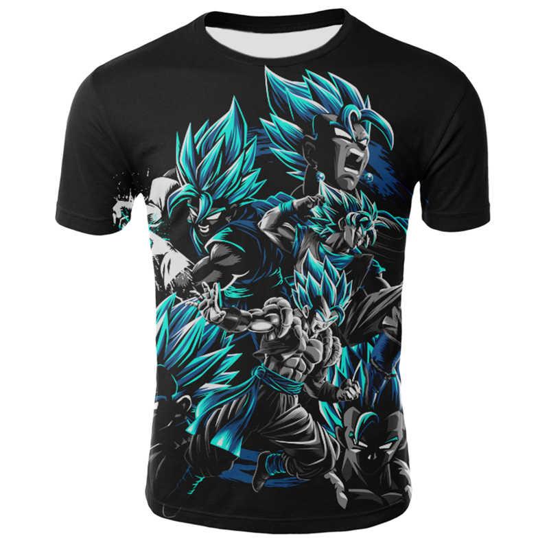 Neue Dragon Ball Z Serie Vegeta T-shirt Männer Compression Rundhals Shirt Anime Superman T-shirt Fitness Top Goku 3D spaß T