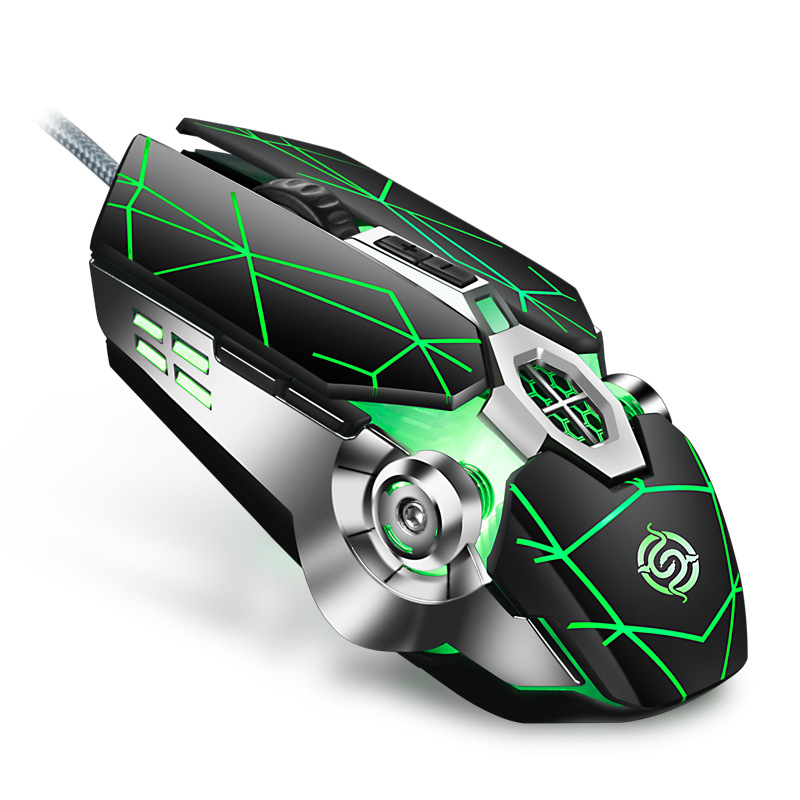 New Q7 Wired Gaming Mouse LED Backlight Mechanical Computer Mouse 4000DPI 7 Buttons Laptop Pc Mouse For LOL DOTA