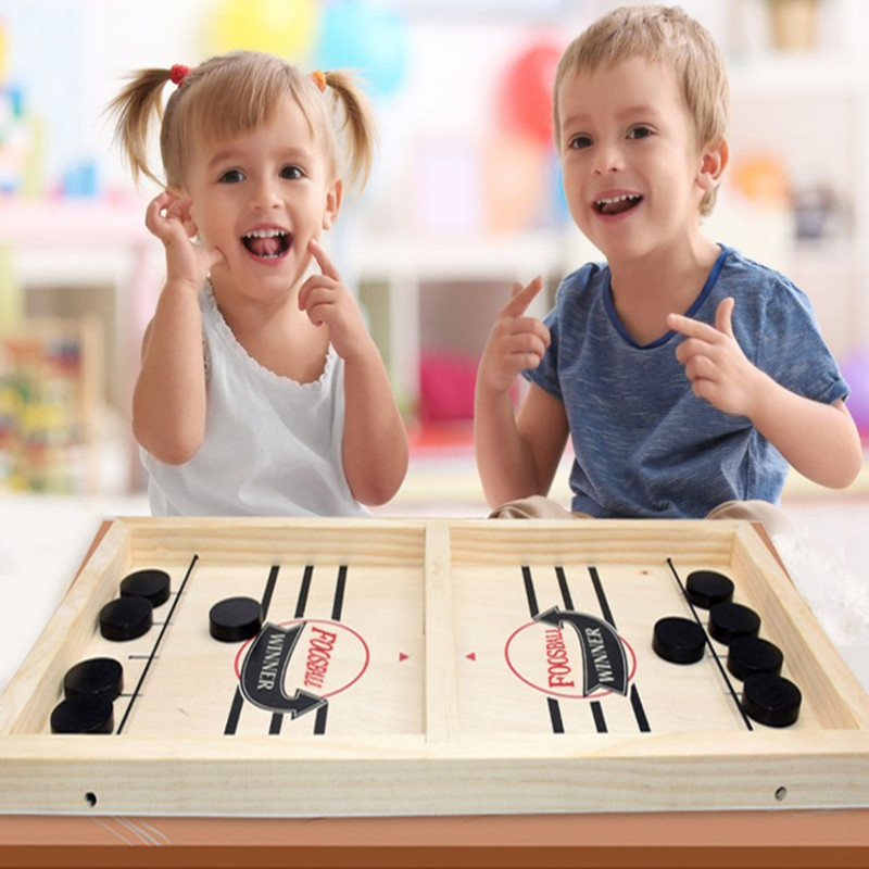 Board Games Fast Hockey Sling Puck Game Paced Sling Puck Winner Funny Party Game Toys For Adult Child Family Juegos De Mesa