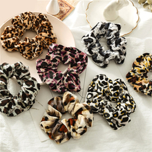 1 Pcs New Women Leopard Print Rubber Bands Ponytail Accessories Girls Hair Ring Headwear Elastic Hair Rope Female Scrunchie
