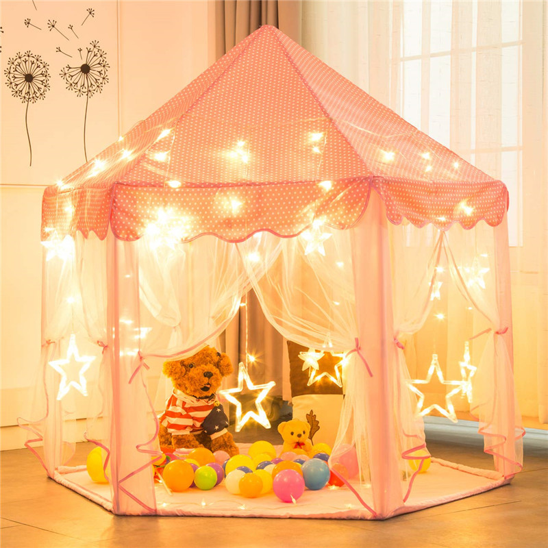 Tent Playhouse Baby-Girl Princess Kids Portable Children For Boy Outdoor Castle Teepee
