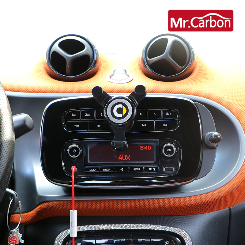 Car mobile phone Bracket navigation frame gravity Bracket For Mercedes Smart 451 453 Fortwo Forfour interior Accessories
