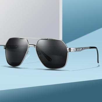 цена на 2020 Mens Polarized Sunglasses for Sports Outdoor Driving Polaroid Sunglasses Men Pilot Metal Frame Sun Glasses Gafas De Sol