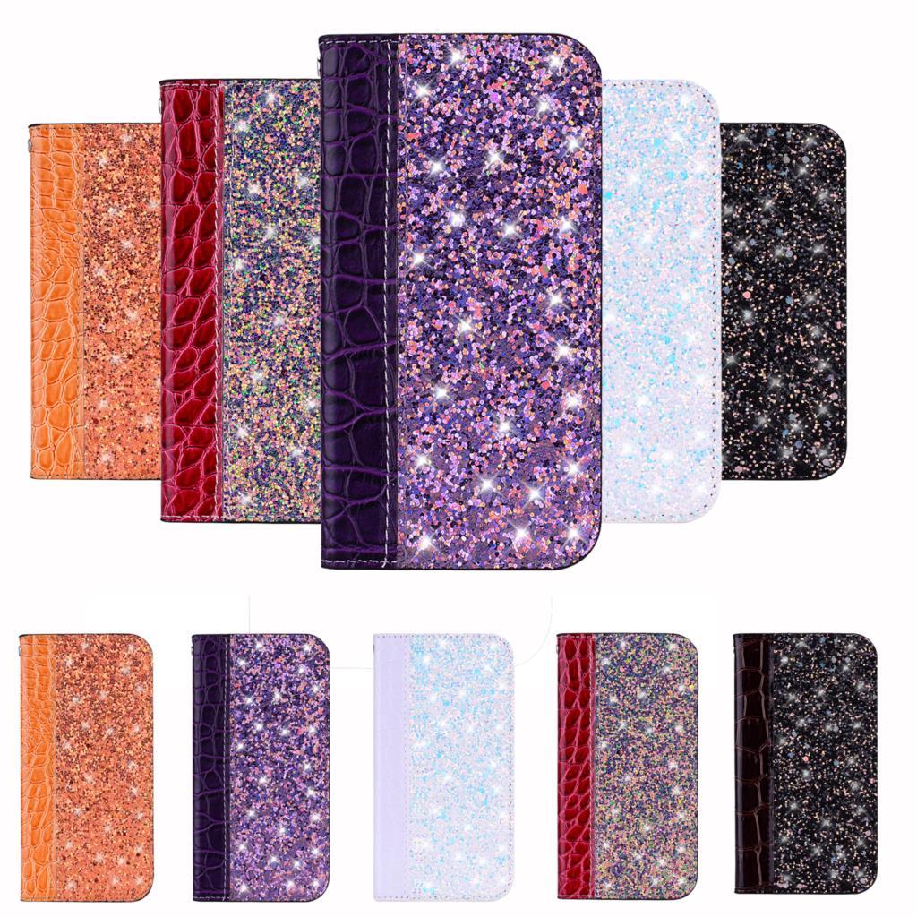 Glitter Bling Case For Xiaomi Redmi Note 8T 8 7 6 5 Pro 4X 5 Plus A2 A1 Flip Book Coque Red Mi A3 Lite 8A 7A K30 k20 5X Y2 Funda