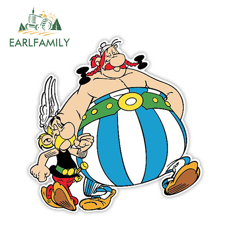EARLFAMILY 13cm X 12.9cm Car Styling Asterix And Obelix Car Stickers Vinyl Decal Personality Waterproof Accessories Graphics