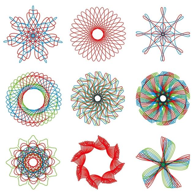Spirograph Geometric Stencils