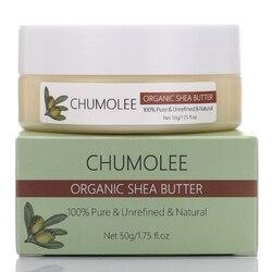 Chumolee natural unrefined óleo de manteiga de karité 50g maternidade estrias reparação do corpo da pele remover cicatriz cuidados com o cabelo óleo de sabão artesanal