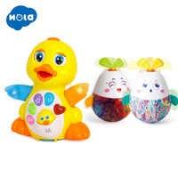 HOLA 808 & 3132 danse canard avec lumière/musique/électrique et bébé hochets Mobile danse lapin gobelet roly-poly silicone dentition