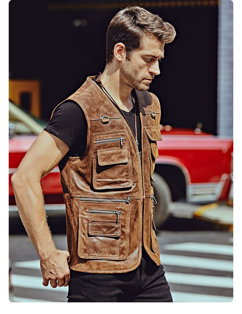Hc2bdfd80dee1434bb2a798a62df59fd1J FLAVOR New Men's Real Leather Vest Men's Motorcycle Fishing Outdoor Travel Vests
