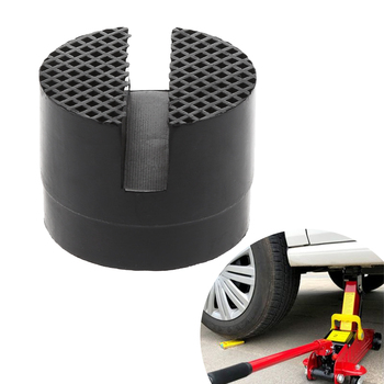 Car Rubber Support Block For Automobile General Jack Protector Adapter Pad Tool Floor Slotted For Pinch Weld Side Lifting Disk new black rubber slotted floor jack pad frame rail adapter for pinch weld side pad
