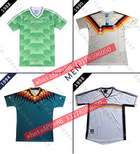 1988 1990 1994 Retro soccer jersey Germany 98 home white Vintage soccer jersey classic football shirt(China)