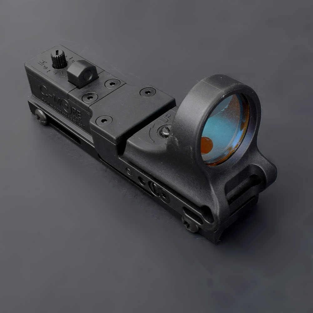 Tactische Verstelbare 4MOA Red Dot Sight Reflex Cmore Optics Sight Seemore Ipsc Riflescope Met Cover Voor Jacht Airsoft Shootin