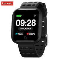 Lenovo Orologio E1 Astuto Della Vigilanza 5ATM Impermeabile Bluetooth della Frequenza Cardiaca di Sport Tracker Chiamata/Messaggio di Promemoria Smartwatch per Android iOS
