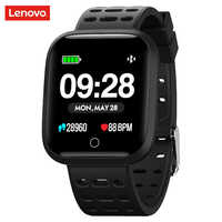 Reloj inteligente Lenovo E1 5ATM resistente al agua Bluetooth, rastreador de ritmo cardíaco, recordatorio de llamadas/mensajes, reloj inteligente para Android iOS