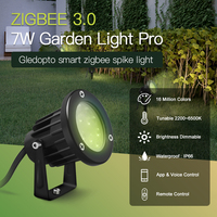 GLEDOPTO Zigbee 3.0 AC/DC 24V Outdoor Lighting LED Garden Light 7W Pro Compatible with Hub Tuya App Voice 2.4G RF Remote Control