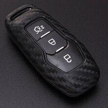 Car Key Case Cover For Ford Mondeo MK3 MK4 MK5 Kuga F150 Ranger Explorer Focus SMAX CMAX Mustang 2020 Key Ring Shell Accessories