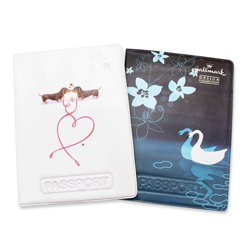 Beautiful Passport Holder Case Soft Pu Leather Women Girls Multi-function Travel Wallet Passport Cover Protector ID Card Holders