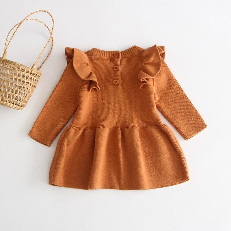 Hc2beaefa28d64f688f36e73edd68ef7fA Girls Knitted Dress 2019 autumn winter Clothes Lattice Kids Toddler baby dress for girl princess Cotton warm Christmas Dresses
