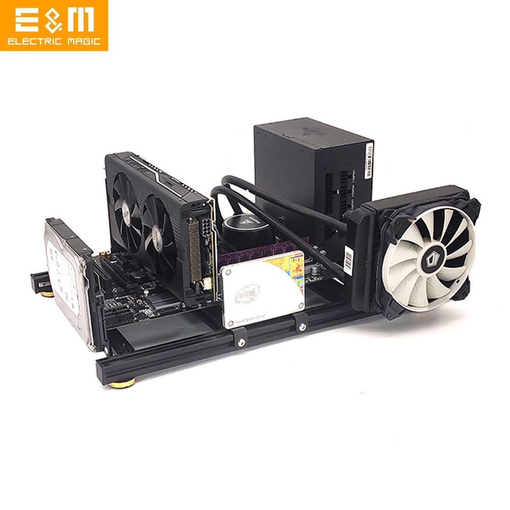 ITX MATX ATX EATX PC Test Bench Computer Open Frame Overclock Air Case Mini Aluminum HTPC Support Graphics Card