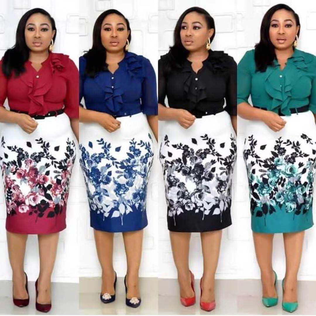 2019 New Arrival Sexy Fashion Style African Women Beauty Plus Size Printing Dress