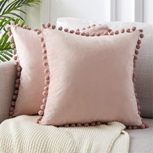 Soft Velvet Cushion Cover Decorative Pillows Throw Pillow Case Soft Solid Colors Luxury Home Decor Living Room Sofa Seat Coffee