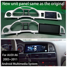 Android 9.0 2 + 32G Voor Audi A6 C6 4F 2005 ~ 2011 Mmi 2G 3G Auto android Radio Gps Navigator Multimedia Stereo Au