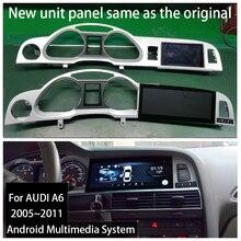 Radio Multimedia con Gps para coche, Radio con navegador, Android 9,0, 2 + 32G, navegador, estéreo, para Audi A6, C6, 4F, 2005 ~ 2011, MMI, 2G, 3G
