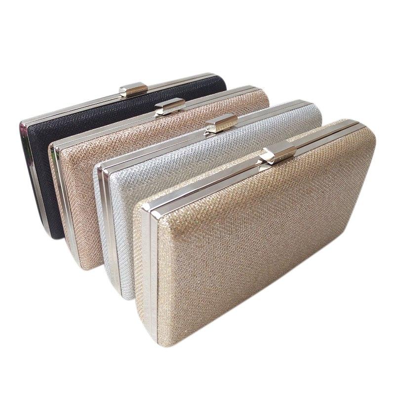 New Arrival Bright Evening Party Clutch Bag Chain Small Box Square Hard Shell Plaid Handbag Shoulder Messenger Bag