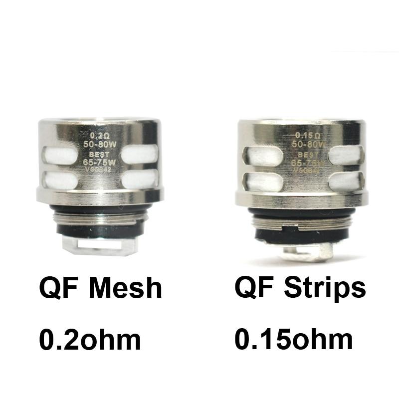 9/6/3pcs Replacement Coil 0.2ohm QF Mesh 0.15ohm QF Strips Vape Core Coil For SKRR Atomizer Tank Luxe 220w Kit Vaporizer