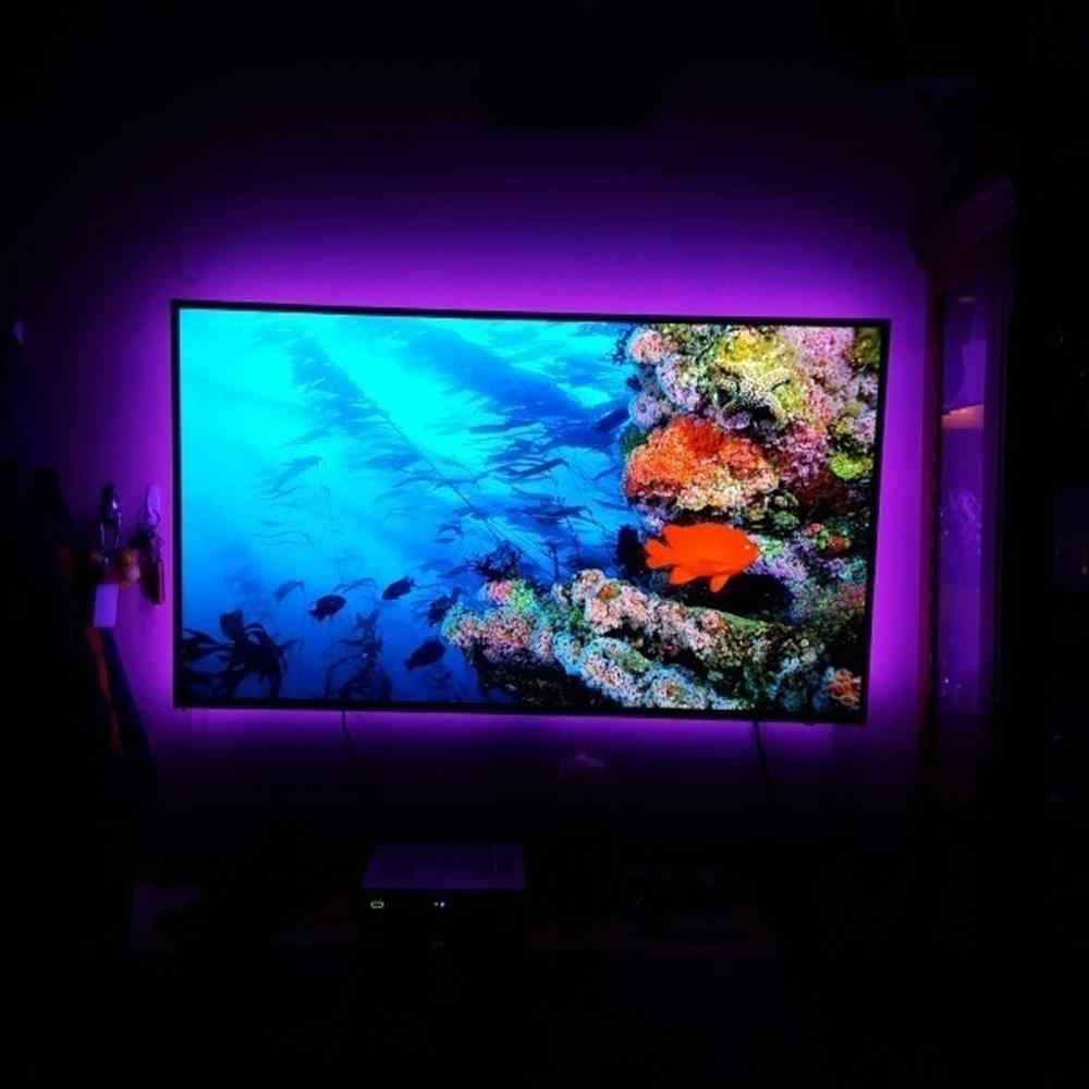 1M/2M/3M USB LED Streifen Fernbedienung Hause Wohnzimmer Licht TV Zurück Lampe 5050RGB Farbe Ändern DC 5V String Beleuchtung