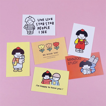 Ins Hot Sale Japanese Girls Cards Cute Cartoon Bedroom Wall Decoration Girl Kawaii Non-sticky Hand Made Postcard Stationery Gift