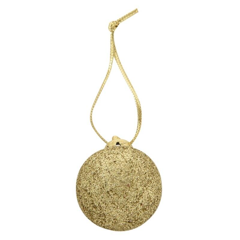 48 шт., шикарные рождественские безделушки для елки, простые блестящие рождественские украшения, золотые и красные украшения