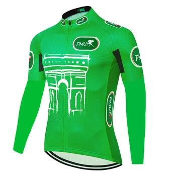 Maillot largo de manga larga para ciclismo, térmico y polar, para hombre,...