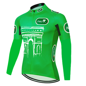 Nuevo tour nuevo jersey de manga larga para ciclismo de Francia, jersey largo de invierno térmico para hombre