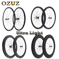 OZUZ Ultra Light 23mm Wide Carbon Wheels 38/50/88mm Deep Powerway R13 Hub Tubular Clincher Bicycle Wheelset 700c 3K Cycling Rims
