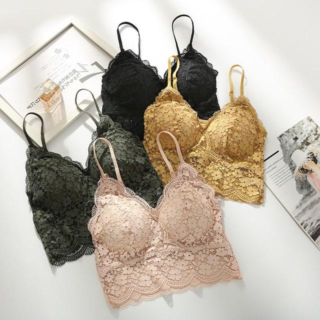 Floral Lace Bralette (Push Up) Underwear