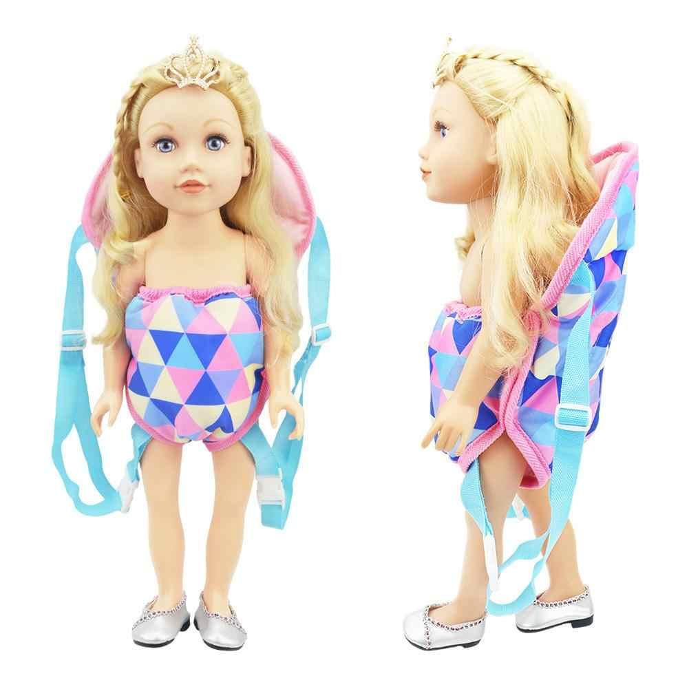 18IN Baby Kids Reborn Doll Carrier plecak zabawka realistyczna nowonarodzona zabawka dla dziecka z przednim i tylnym przewoźnikiem z paskami dla dzieci prezent