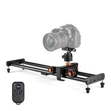 Andoer Kamera Video Dolly Slider Kit mit 3-rad Auto Dolly Auto 3 Geschwindigkeit Einstellbar + 60cm/23,6 in Schiene Kamera Slider