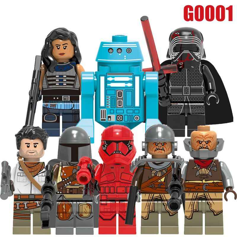 Building Blocks Wars Poe Dameron The Man Rhoda Sith Stormer Kara Dunn Raider Empire Mechanic Robot Figures Children Toys GH0001